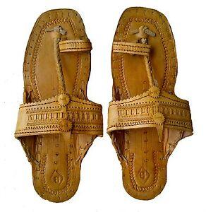 HANDMADE SANDAL US 10 MEN ANTIQUE LOOK INDIAN BOHO HIPPIE ... |Hippie Mens Leather Sandals