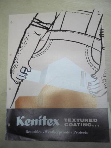 Kenitex Chemicals Catalog~Textured Coatings/Weatherproofs~Asbestos~1962