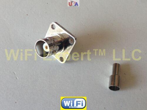 BNC Female FLANGE SOLDER CRIMP RG316 RG174 RG179 LMR100 Cable Straight Connector
