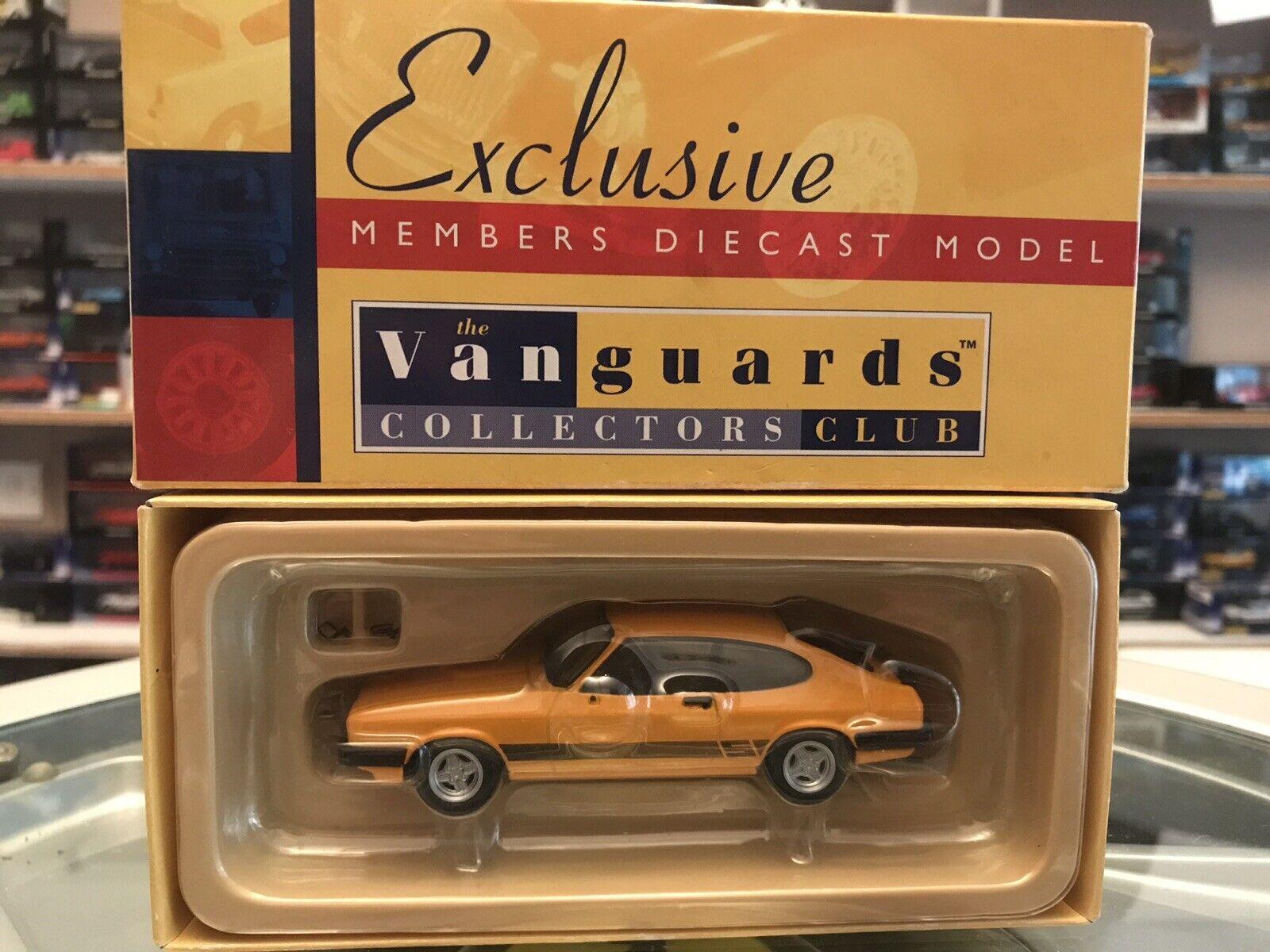 Vanguards Ford Capri Mk3 3.0 S Signal Ambre 1 43 En parfait état, dans sa boîte LTD ED VA10811 Collectors Ed