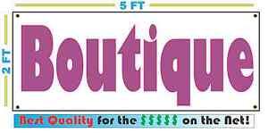 PINK BOUTIQUE Banner Sign w// Vintage Retro Look for Resale Shop Antique Store