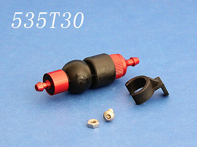 large aluminum fuel filter w/ primer pump for rc cars for rc gas boat car 535T30