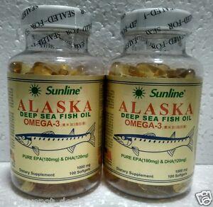 sunline alaska fish oil  SUNLINE ALASKA Deep Sea Fish Oil ~ OMEGA-3 1000mg ~Dietary Suppl ...