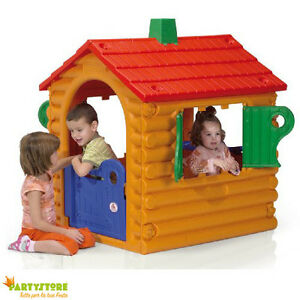 Casetta per bambini 111x26x126 cm giochi casa giardino for Grande casetta per bambini