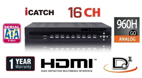 16 Channels H.264 480IPS Security DVR 960H//Audio //Alarm//Mobile//HDMI 1TB