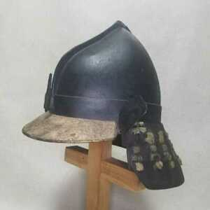 Japanese-Antique-helmet-Kabuto-Edo-Era-Peach-helmet-Iron-Rare-Used