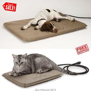 Pet Heated Bed Soft Cat Dog Sleeping Comfort Pad Mat Indoor Outdoor Rug Kennel