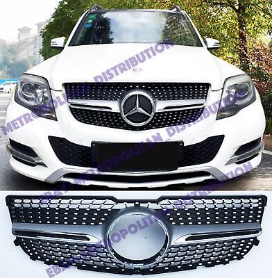 LCI 2012+ Mercedes GLK//X204 220 350 CDI en estrella//Diamante//Single-aleta AMG Grill Plata
