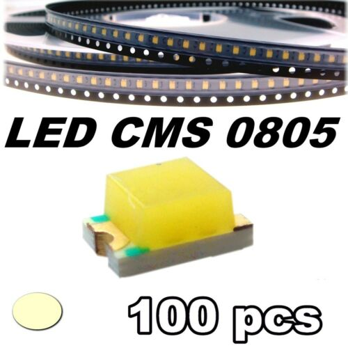 155//100# LED blanc chaud CMS 0805 100 pcs SMD warm white