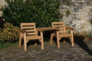 Garden-Furniture-Patio-Set-Companion-Seat-Bench-Solid-Wood-Set