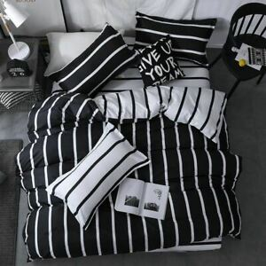 3Pc-Set-Black-and-white-checkered-king-queen-full-twin-size-Bedding-Duvet-Cover