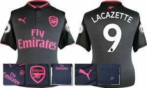 17 18 Puma Arsenal 3rd Kit Shirt Ss Patches Lacazette