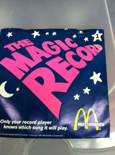 Brand New old stock Mc Donalds Magic  record Ultra Rare new old stock phonograph