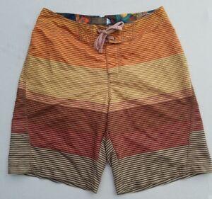 c6c969f6c9 Old Navy Board Shorts Swim Trunks Men's Medium Yellow Orange Striped ...