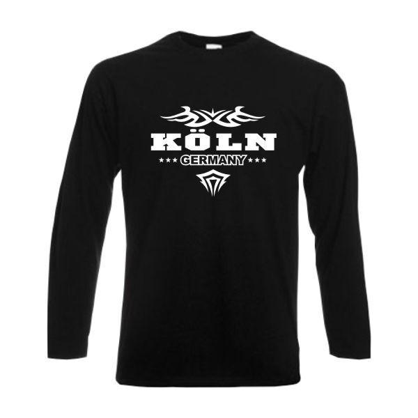 Longsleeve Köln GERMANY Städteshirt Funshirt Langarm Fun T Shirt (SFU09-43b)