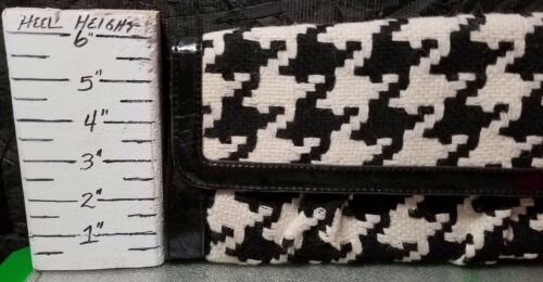 Purse by Nwt 8868570026736 Clutch W Close Magnetic Black Rampage Houndstooth Trim Patent 7ax5RS6w