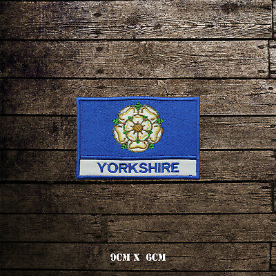 EAST RIDING Flag With Name Embroidered Iron On Sew On Patch Badge