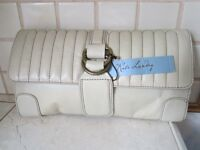 With Tags Kate Landry Pillow Talk Beige Clutch Style Purse Spring & Summer