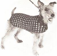 Vintage Knitting Pattern Dog Coat Sweater Blanket S-m-l