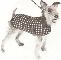 Vintage Knitting Pattern Dog Coat Sweater Blanket S-m-l