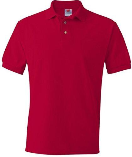 HANES STEDMAN MEN PLUS 4XL POLO SHIRT Red COTTON TOP