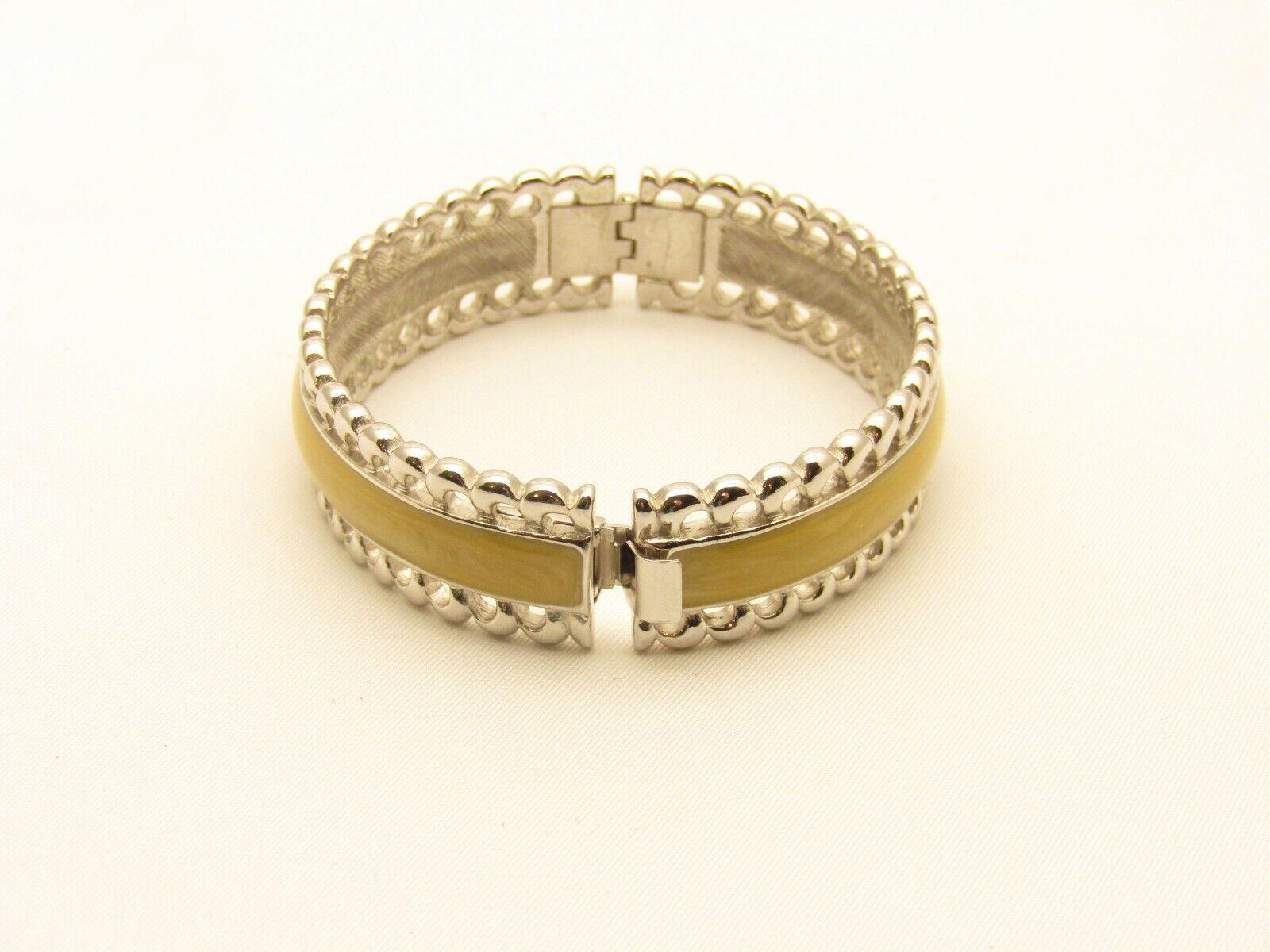 nos jewelry Sale estate with tag Unused Vintage signed Monet Hinged Bangle bracelet