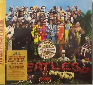 The-Beatles-Sgt-Pepper-039-s-Lonely-Hearts-Club-Band-50th-ANNIVERSARY-2xCD-New