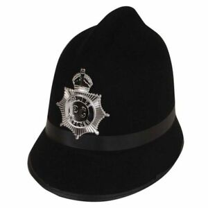 london bobby police hat policeman black fancy dress accessory with