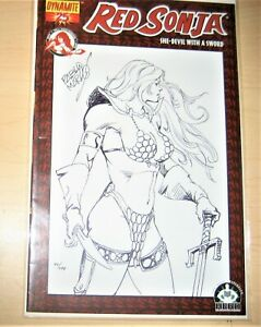 Red Sonja Sketch Cover Original Art pablo Marcos  90/499  w/coa  1 of a Kind