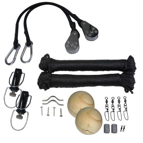 TACO Metals 6501340 Taco Premium Rigging Kit Black F//1 Paire Stabilisateurs