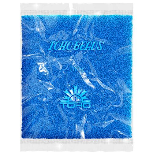 Toho Vente en Gros Ronde 15//0 Graines Perles TR-15-43D Opaque Bleuet 100 g R36//4