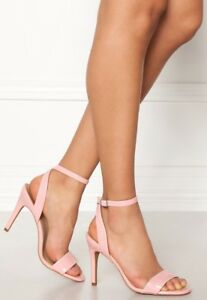 810a056358 NEW LOOK SIZE 7 40 PINK PATENT BARELY THERE HIGH HEEL ANKLE CUFF ...