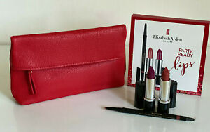 NEW-ELIZABETH-ARDEN-PARTY-READY-LIP-LINER-amp-2-LIPSTICK-GIFT-SET-BAG-75-SALE