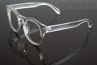 Vintage Transparent clear Eyeglass Frames Spectacles Retro Glasses Rx able