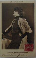 Postcard, Sarah Bernhardt, Theater star, stage and film actress