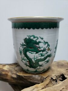 Chinese-Porcelain-Families-Rose-Flower-Planter-Brush-Washer