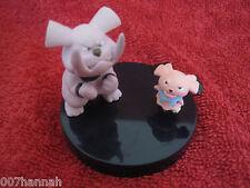 2 Pokemon Figure/Zukan:Snubbull+Granbull,gebraucht,Yujin,andere/other Base/F42
