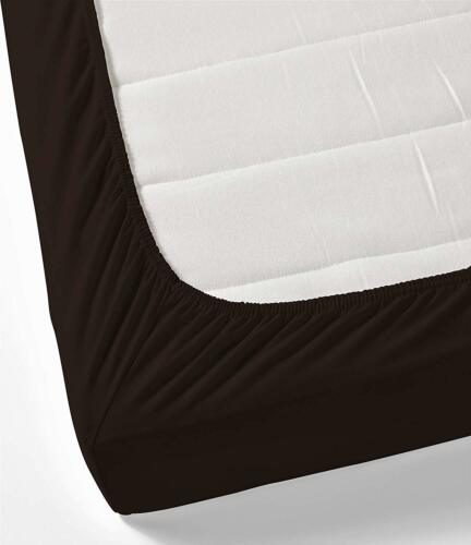 Details about  /DEEP PKT FITTED SHEET AU SIZE CHOCOLATE SOLID//STRIPE 1000 TC EGYPTIAN COTTON