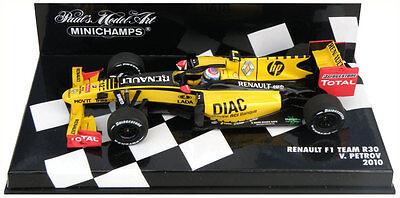 PETROV 2010 1:43 embalaje original * Minichamps fórmula 1 renault f1 Team r30 V