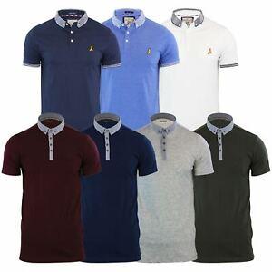 Brave-Soul-Glover-Homme-Polo-T-Shirt-En-Coton-A-Col-Manches-Courtes-Haut-Decontracte