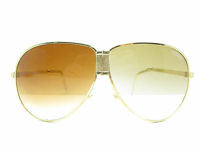 RETRO AUTHENTIC! AVIATORS VINTAGE  80/'S AMBER  SPORTS SUNGLASSES TAIWAN R.O.C