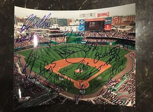 WASHINGTON-NATIONALS-2009-TEAM-AUTOGRAPHED-SIGNED-AUTO-BASEBALL-PHOTO-8x10