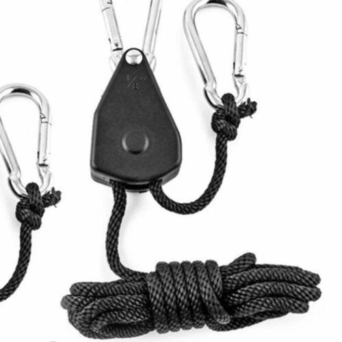 20PCS 1//8 Hydroponic Adjustable Grow Light YOYO Hanger Heavy Duty Ratchets Rope