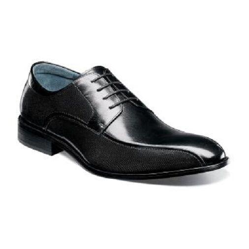 Stacy Adams chaussures Julius Bike Toe BUFFALO noir cuir Oxford 25148-001