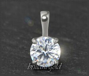 Diamant-Damen-585-Gold-Brillant-Anhaenger-1-02-ct-Wesselton-Si-Weissgold-NEU