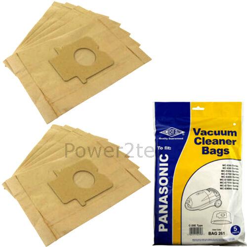 C-20E Type Dust Bags for Panasonic MC-E7300 MC-E7301 MC-E7301k Pack Of 5