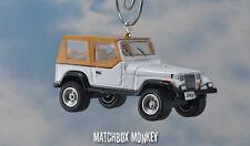 1987 Jeep Wrangler Unlimited Custom Ornament 1/64 Adorno 4x4 White Soft Top YJ