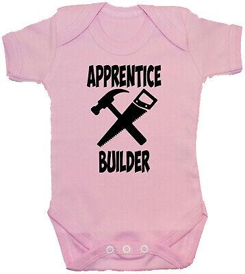 Apprentice Builder Baby Grow Vest Romper Bodysuit Vest 0-24mths Unisex Gift