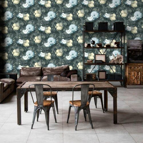AS Creation Anke /& Daan Amsterdam Linen Vintage Floral Blue 36921-3 Wallpaper