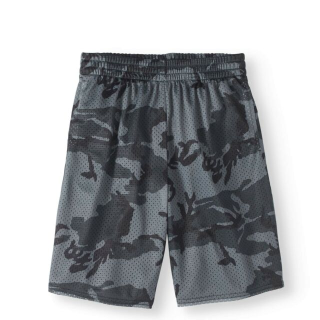 Athletic Works Boys Active Mesh Shorts X-Small 4-5 Gray Camo NEW for sale  online